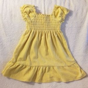 Other - 18-24M Terrycloth Yellow Summer Dress